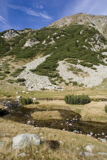 Bulgaria, Pirin Mountains, Pirin National Park, Distant Mountain--Giclee Print