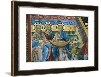 Bulgaria, Rhodope Mountains, Rila Monastery, Detail of Fresco--Framed Giclee Print