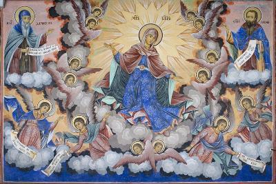 Bulgaria, Rila Monastery of Glory of Virgin at Church of Nativity of Virgin--Giclee Print