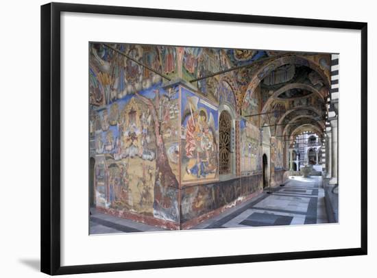 Bulgaria, Rila Mountains, Rila Monasteryed Narthex in Church of Nativity of Virgin--Framed Giclee Print