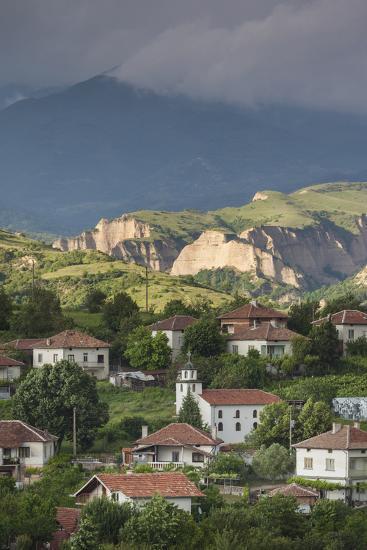 Bulgaria, Southern Mountains, Melnik-Area, Village of Lozenitsa-Walter Bibikow-Photographic Print
