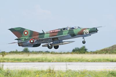 Bulgarian Air Force Mig-21Um Mongol Taking Off-Stocktrek Images-Photographic Print