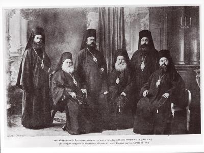 Bulgarian Bishops of Macedonia Chased Away from Their Diocese by Serbs, 1913--Giclee Print
