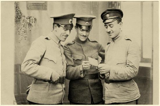 Bulgarian Soldiers Enjoying a Photo, C.1914--Photographic Print