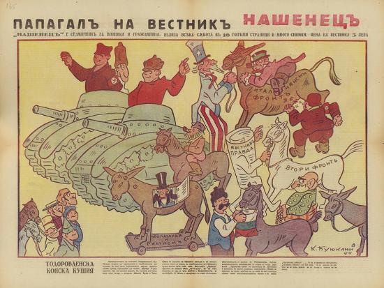 Bulgarian WW2 Political Cartoon--Giclee Print