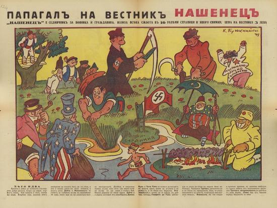 Bulgarian WW2 Political Cartoon--Giclee Print