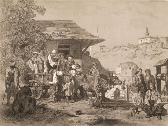 Bulgarians Near Varna, Printed by Lemercier, Paris-Jules Joseph Augustin Laurens-Giclee Print
