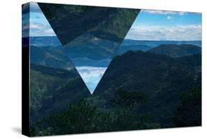 Geometric Foggy Forest Mountain Landscape by Bulgn