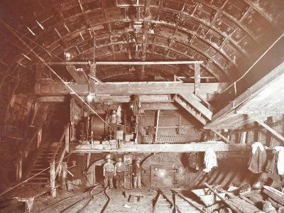 Bulkhead to Retain Compressed Air in Rotherhithe Tunnel, London, October 1906--Photographic Print