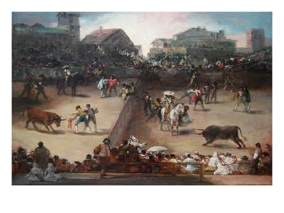 Bull Fight in a Divided Ring-Francisco de Goya-Art Print