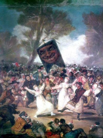 Bull Fight in a Village, 1812-1814-Francisco de Goya-Giclee Print