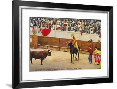 Bull Fight in Spain, Early 20th Century--Framed Photographic Print