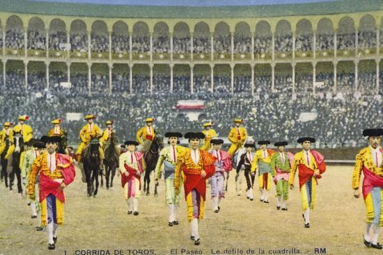 Bull Fight in Spain, Early 20th Century--Photographic Print