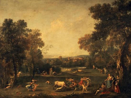 Bull-Hunting-Francesco Zuccarelli-Giclee Print