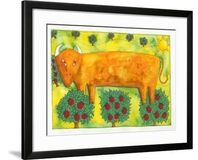 Bull in Field, 1992-Julie Nicholls-Framed Giclee Print