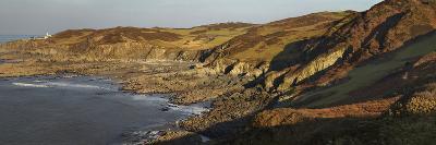 Bull Point, Seen across Rockham Bay, Mortehoe, Near Woolacombe, Near Ilfracombe, Devon-Nigel Hicks-Photographic Print