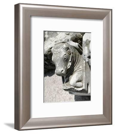 Bull's head, Cumae, near Naples, Italy-Werner Forman-Framed Photographic Print