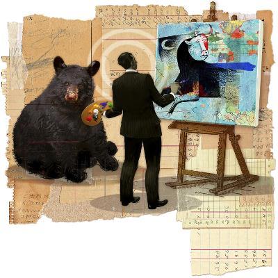 Bull Spin-Anthony Freda-Giclee Print