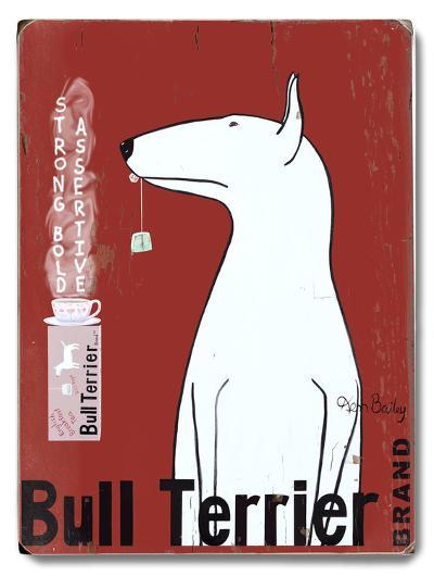 Bull Terrier Brand--Wood Sign