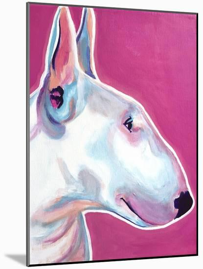 Bull Terrier - Bubble Gum-Dawgart-Mounted Premium Giclee Print