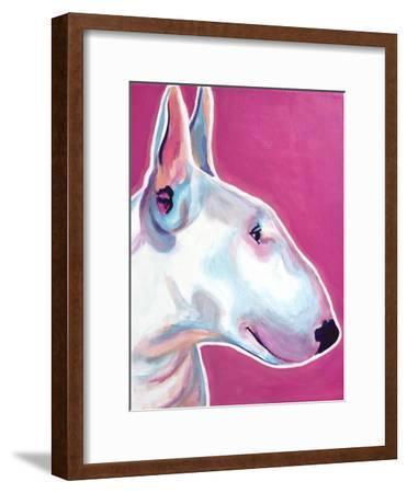 Bull Terrier - Bubble Gum-Dawgart-Framed Premium Giclee Print