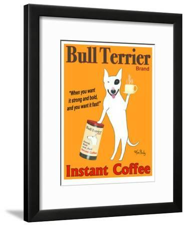 Bull Terrier Coffee-Ken Bailey-Framed Collectable Print