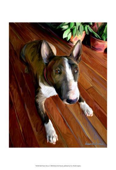 Bull Terrier Down-Robert Mcclintock-Art Print