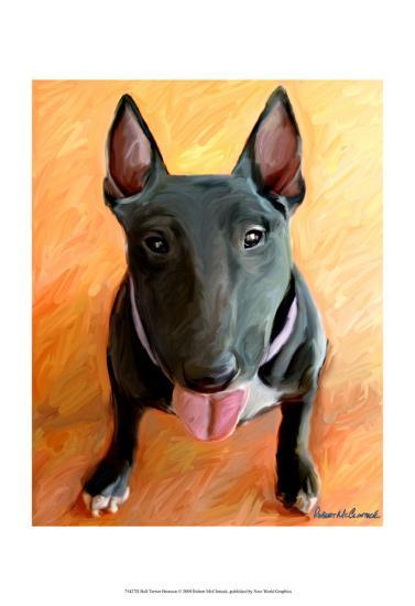 Bull Terrier Rhino-Robert Mcclintock-Art Print