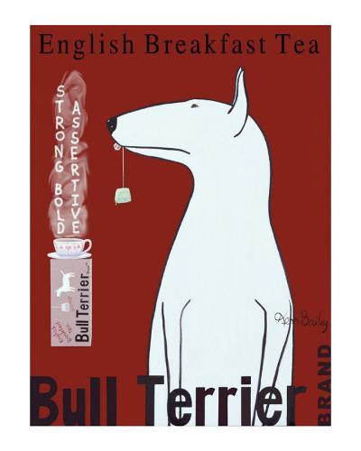 Bull Terrier Tea-Ken Bailey-Collectable Print