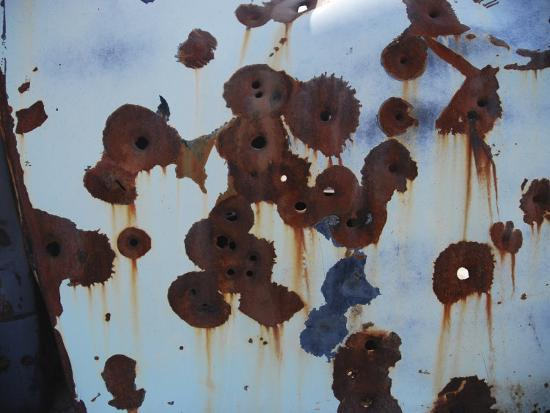Bullet Holes in an Old Abandoned Car in Death Valley, Ca-Raymond Gehman-Photographic Print