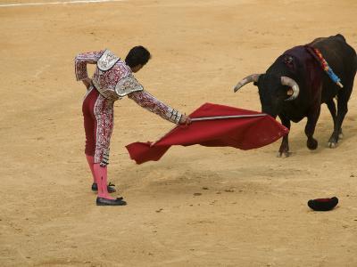 Bullfight at Plaza De Toros De Valencia-Krzysztof Dydynski-Photographic Print