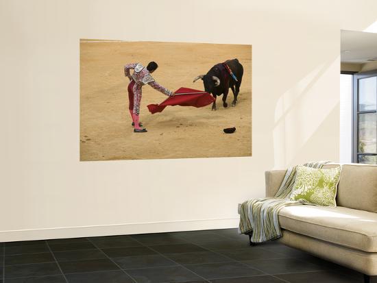 Bullfight at Plaza De Toros De Valencia-Krzysztof Dydynski-Wall Mural