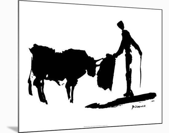 Bullfight II-Pablo Picasso-Mounted Art Print