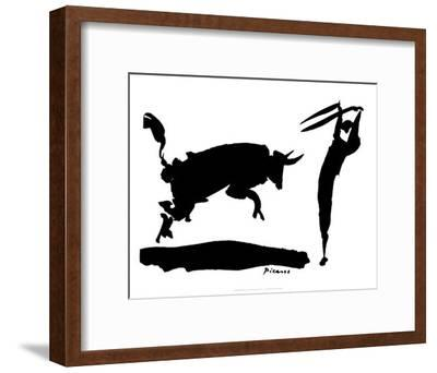 Bullfight III-Pablo Picasso-Framed Art Print