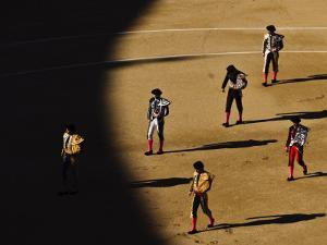Bullfighters Make the Traditional Entrance into the Arena, before a Bullfight in Madrid