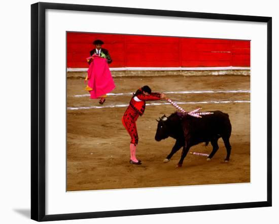 Bullfights Begin with Bleeding of the Bull, San Luis Potosi, Mexico-Russell Gordon-Framed Photographic Print