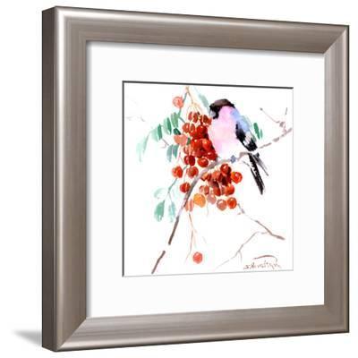 Bullfinch 2-Suren Nersisyan-Framed Art Print