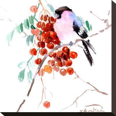 Bullfinch 2-Suren Nersisyan-Stretched Canvas Print