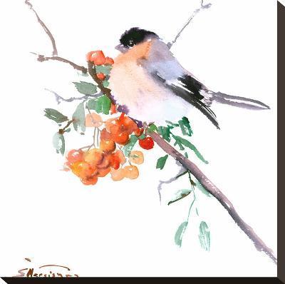 Bullfinch-Suren Nersisyan-Stretched Canvas Print