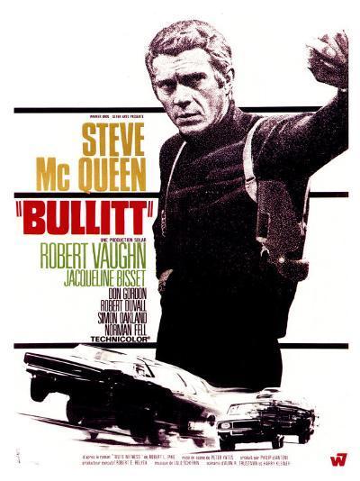 Bullitt, French Movie Poster, 1968--Art Print
