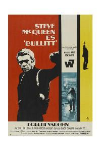 Bullitt, Steve Mcqueen on Spanish Poster Art, 1968