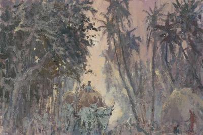 Bullock Carts, Evening Light-Tim Scott Bolton-Giclee Print