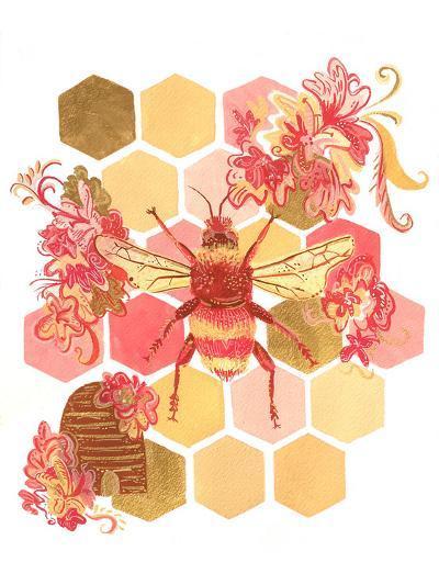 Bumblebee One Fine Day-Cara Kozik-Art Print