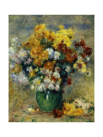 Bunch of Chrysanthemums-Pierre-Auguste Renoir-Giclee Print