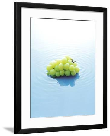 Bunch of Grapes Floating on Water--Framed Photographic Print