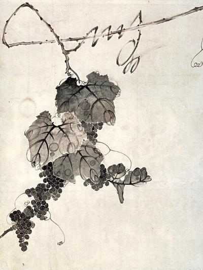 Bunch of Grapes-Jakuchu Ito-Giclee Print