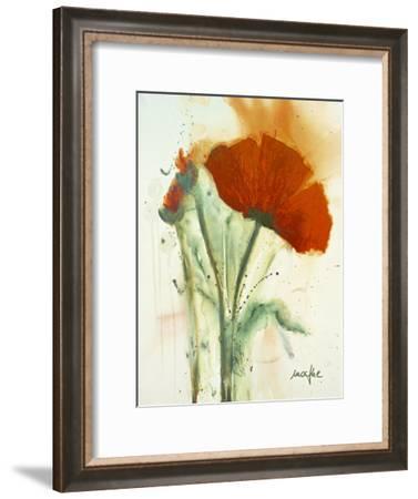 Bunch of Poppies II-Marthe-Framed Art Print