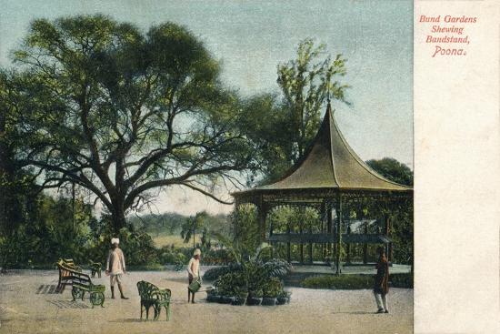 'Bund Gardens Shewing Bandstand, Poona', c1900-Unknown-Giclee Print