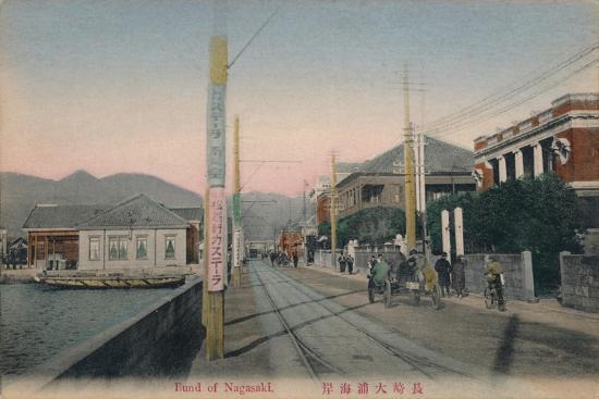 'Bund of Nagasaki', c1910-Unknown-Giclee Print