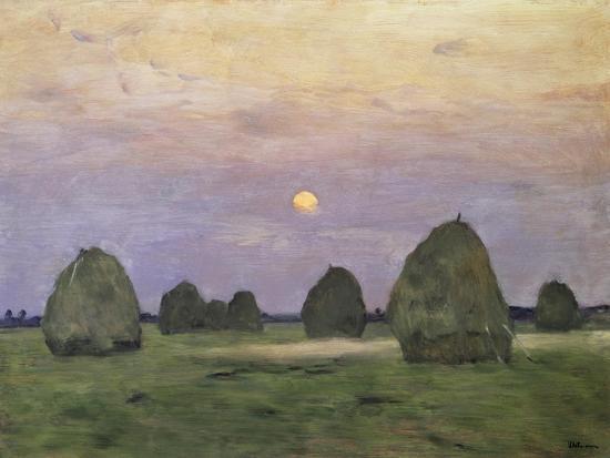Bundles of Hay at Twilight-Isaak Ilyich Levitan-Giclee Print
